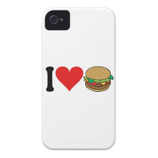 I Love Hamburgers * Case-Mate iPhone 4 Case