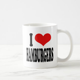 I Love Hamburgers Coffee Mug