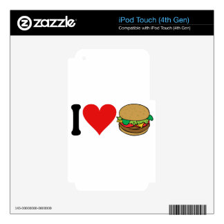 I Love Hamburgers * iPod Touch 4G Decals