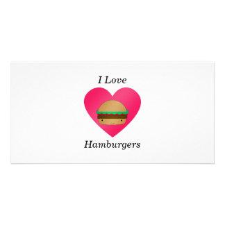 I love hamburgers photo card template