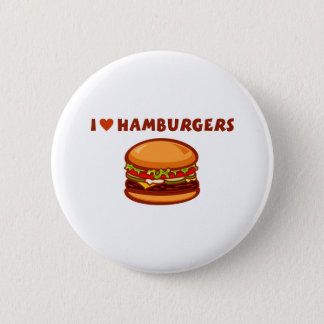 I Love Hamburgers Pinback Button