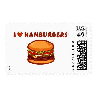 I Love Hamburgers Postage