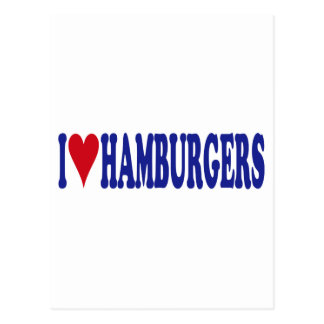 I Love Hamburgers Postcard