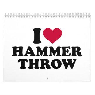 I love Hammer throw Calendar