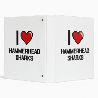 I love Hammerhead Sharks Digital Design Vinyl Binder