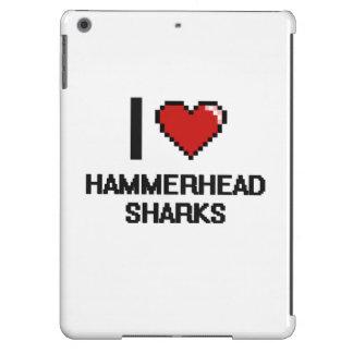 I love Hammerhead Sharks Digital Design iPad Air Covers