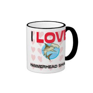 I Love Hammerhead Sharks Ringer Mug