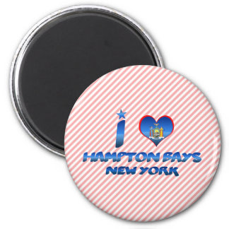 I love Hampton Bays, New York 2 Inch Round Magnet