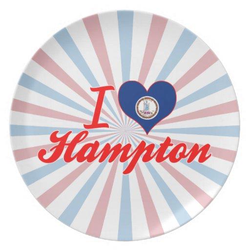 I Love Hampton, Virginia Dinner Plate