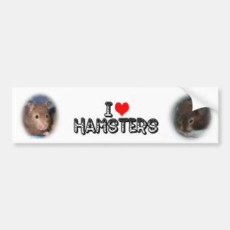 I love Hamsters Bumper Sticker