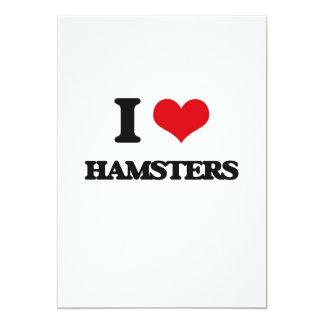 I love Hamsters 5x7 Paper Invitation Card