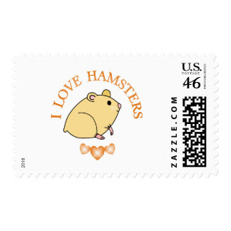 I Love Hamsters Stamps