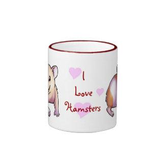 I Love Hamsters Ringer Mug
