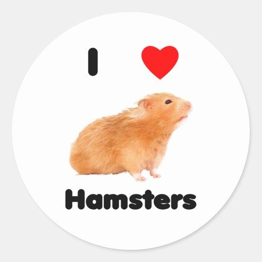 I Love Hamsters Sticker Zazzle Com