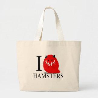 I Love Hamsters Tote Bags