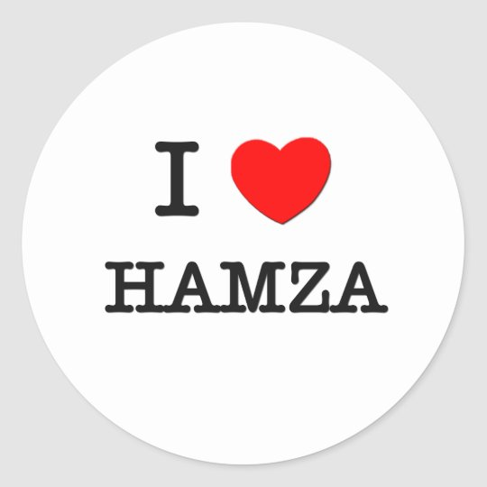 I Love Hamza Classic Round Sticker