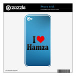 I love Hamza Decal For iPhone 4