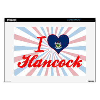 """I Love Hancock, Maine Decals For 15"""" Laptops"""