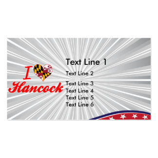 I Love Hancock, Maryland Double-Sided Standard Business Cards (Pack Of 100)