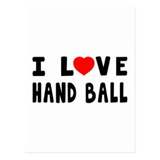 I Love Hand Ball Postcard