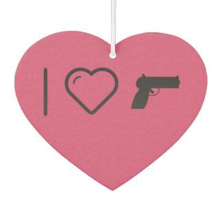 I Love Hand Guns Air Freshener