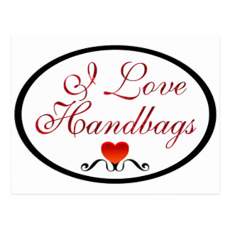 I Love Handbags Postcard
