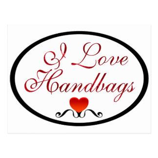 I Love Handbags Postcard