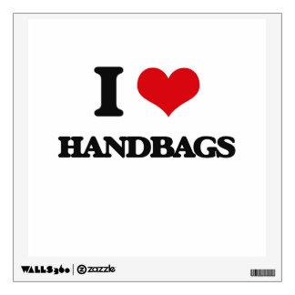 I love Handbags Wall Sticker