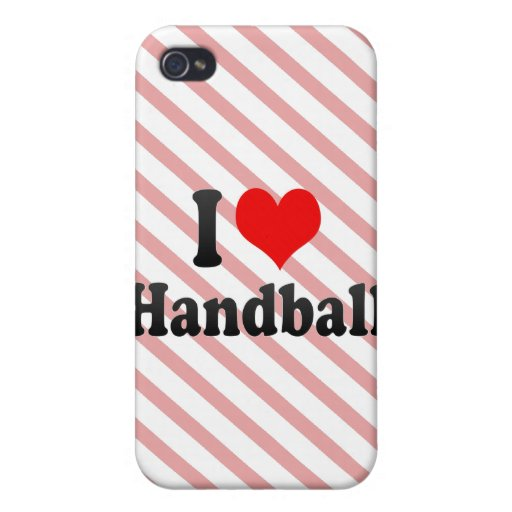 I love Handball iPhone 4 Case