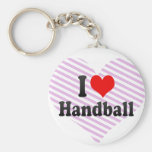 I love Handball Key Chains