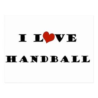 I Love Handball.png Postcard