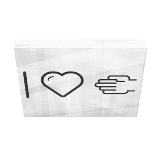 I Love Handshakes Canvas Print