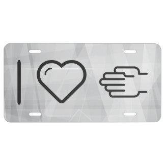 I Love Handshakes License Plate