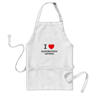 I Love Handwritten Letters Adult Apron