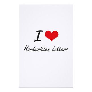 I love Handwritten Letters Stationery