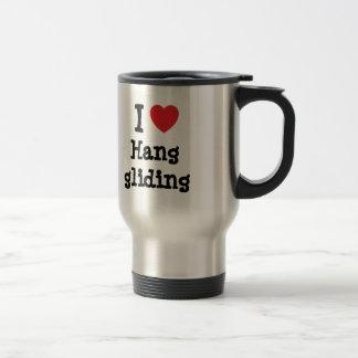 I love Hang gliding heart custom personalized Coffee Mugs