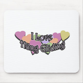 I Love Hang Gliding Mouse Pad