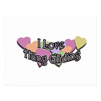 I Love Hang Gliding Postcard
