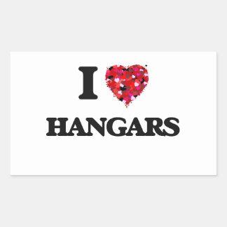 I Love Hangars Rectangular Sticker