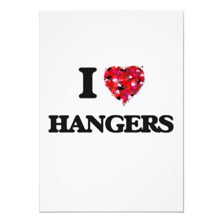 I Love Hangers 5x7 Paper Invitation Card