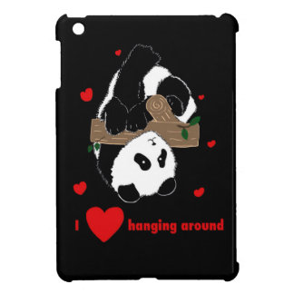 I love hanging around Funny Cute Panda tree iPad Mini Case