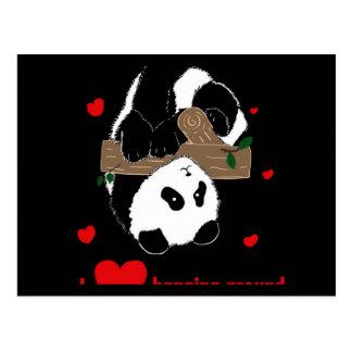 I love hanging around Funny Cute Panda tree Postcard