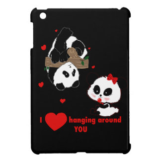 I love hanging around you Pandas iPad Mini Cases