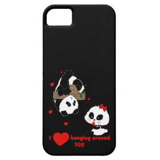 I love hanging around you Pandas iPhone 5 Cover