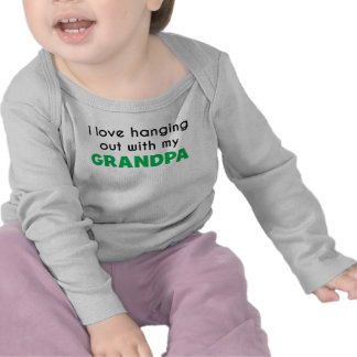 I Love Hanging Out With My Grandpa Tee Shirt