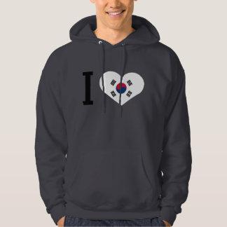 I love Hanguk heart Hoodie