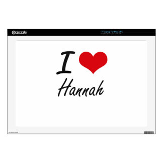 I Love Hannah artistic design Laptop Decal
