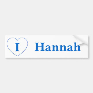 I Love Hannah (BpS) Bumper Sticker
