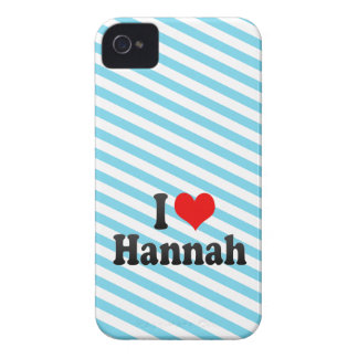 I love Hannah Case-Mate iPhone 4 Cases