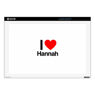 "i love hannah decal for 17"" laptop"